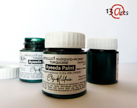13arts Ayeeda Paint: Metallic Turquoise 25 ml