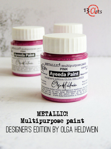 13arts Ayeeda Paint: Metallic Pink 25 ml