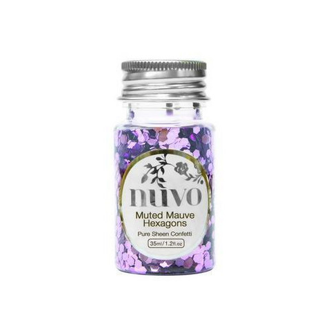 Nuvo Confetti:  Muted Mauve Hexagons