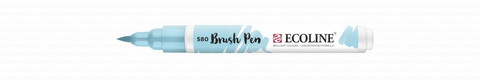Ecoline Brush Pen: Pastel Blue 580  -tussi