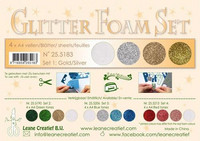 Glitter Foam Set: Gold & Silver