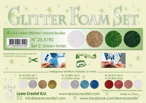 Glitter Foam Set: Green Tones
