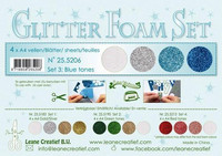 Glitter Foam Set: Blue Tones