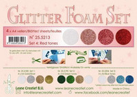 Glitter Foam Set: Red Tones