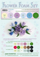 Flower Foam Set 7: Pastel Blue -Violet