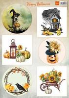 Happy Halloween - korttikuva-arkki A4