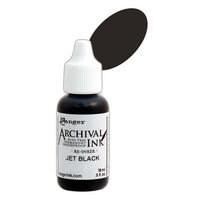 Archival Ink: Jet Black - täyttöpullo