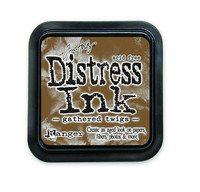 Distress Ink: Gathered Twigs -mustetyyny
