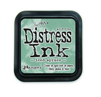 Distress Ink: Iced Spruce -mustetyyny