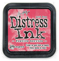Distress Ink: Festive Berries -mustetyyny