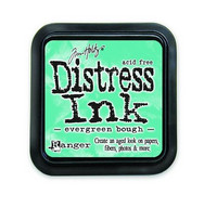 Distress Ink: Evergreen Bough -mustetyyny