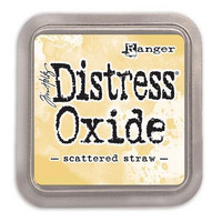 Distress Ink Oxide: Scattered Straw -mustetyyny