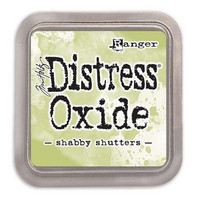 Distress Ink Oxide: Shabby Shutters -mustetyyny