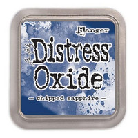 Distress Ink Oxide: Chipped Sapphire -mustetyyny