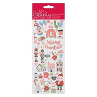 Glitter Stickers:  Folk Christmas