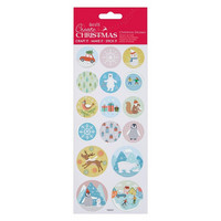Foil Stickers:  Pastel Christmas