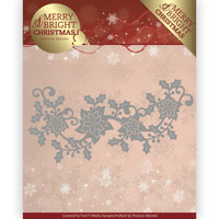 Merry & Bright Christmas: Poinsettia Border -stanssi