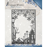 Vintage Winter:  Village Frame Straight - stanssi