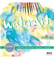 Water Art akvarellipaperipakkaus 12x12 (paksumpi laatu)