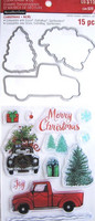 Christmas Trucks Clear Stamp & Die Set