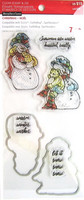 Snowmen Clear Stamp & Die Set