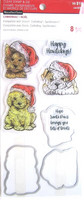 Christmas Puppies Clear Stamp & Die Set