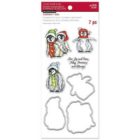 Christmas Penquins Clear Stamp & Die Set