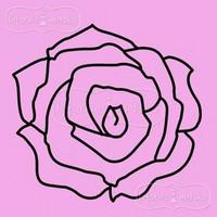 Latarnia Morska:  Rose Large - unmounted leimasin