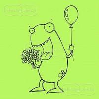 Latarnia Morska:  Greetings Monster - unmounted leimasin
