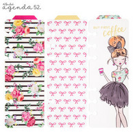 Girlie Foil Clear Tabbed Personal Planner Bookmarks