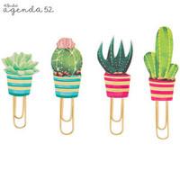 Angenda 52 Paper Clips: Cactus