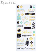 Agenda 52 Foiled Sticker Pack: All Seasons Mini -tarrakirja