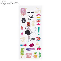 Agenda 52 Foiled Sticker Pack: Watercolor Love Mini -tarrakirja