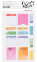 Krissyanne Designs:  Watercolor Sticky Notes