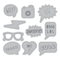 Momenta: Word Bubble Icons -stanssisetti