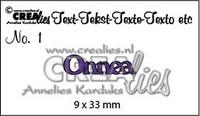 Text Dies: Onnea - stanssi