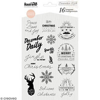 December Daily Clear Stamps