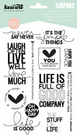 Never Say Never Clear Stamps