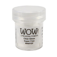 Wow Embossing Powder: Clear Gloss Superfine 15ml