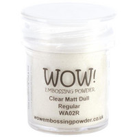 Wow Embossing Powder: Clear Matt Dull  Regular 15ml