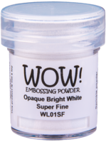 Wow Embossing Powder: Opaque Bright White Superfine 15ml