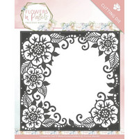 Flowers in Pastel:  Floral Frame -stanssi