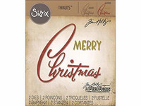 Sizzix Thinlits: Retro Merry Christmas -stanssisetti