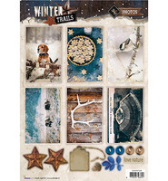 Winter Trails #626 stanssattu korttikuva-arkki