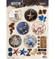 Winter Trails #627 stanssattu korttikuva-arkki