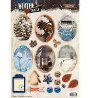 Winter Trails #629 stanssattu korttikuva-arkki