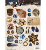 Winter Trails #631 stanssattu korttikuva-arkki