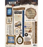 Winter Trails #632 stanssattu korttikuva-arkki