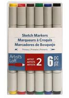 Artist's Loft Dual Tip Sketch Markers 6 pc : Primary  - tussipakkaus