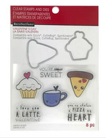 Recollections Valentine stamps & dies: Treats -setti